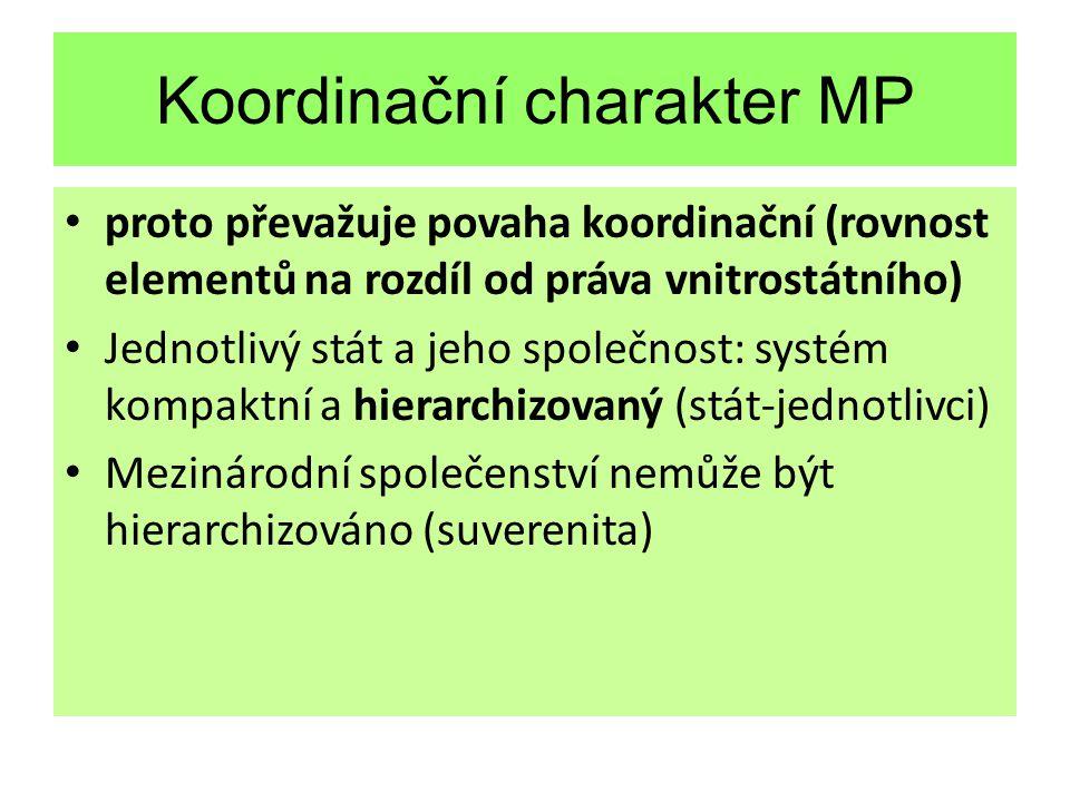 Koordinační charakter MP