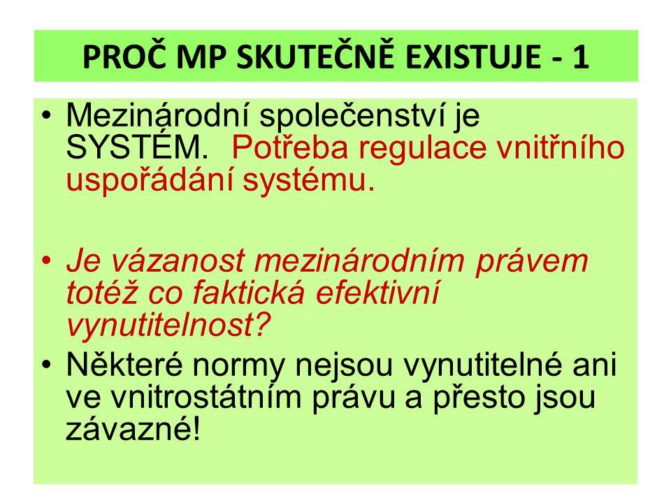 PROČ MP SKUTEČNĚ EXISTUJE - 1