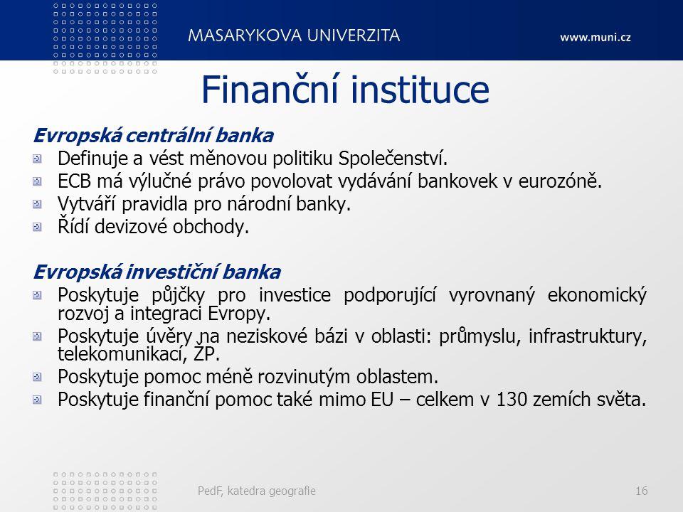 Finanční instituce Evropská centrální banka