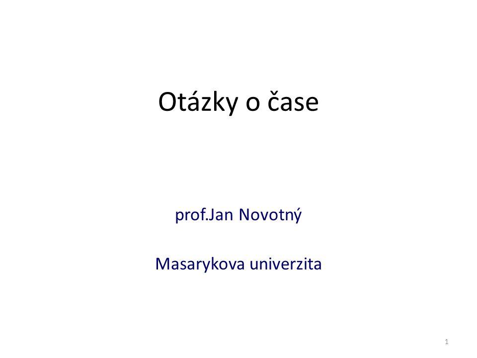 prof.Jan Novotný Masarykova univerzita