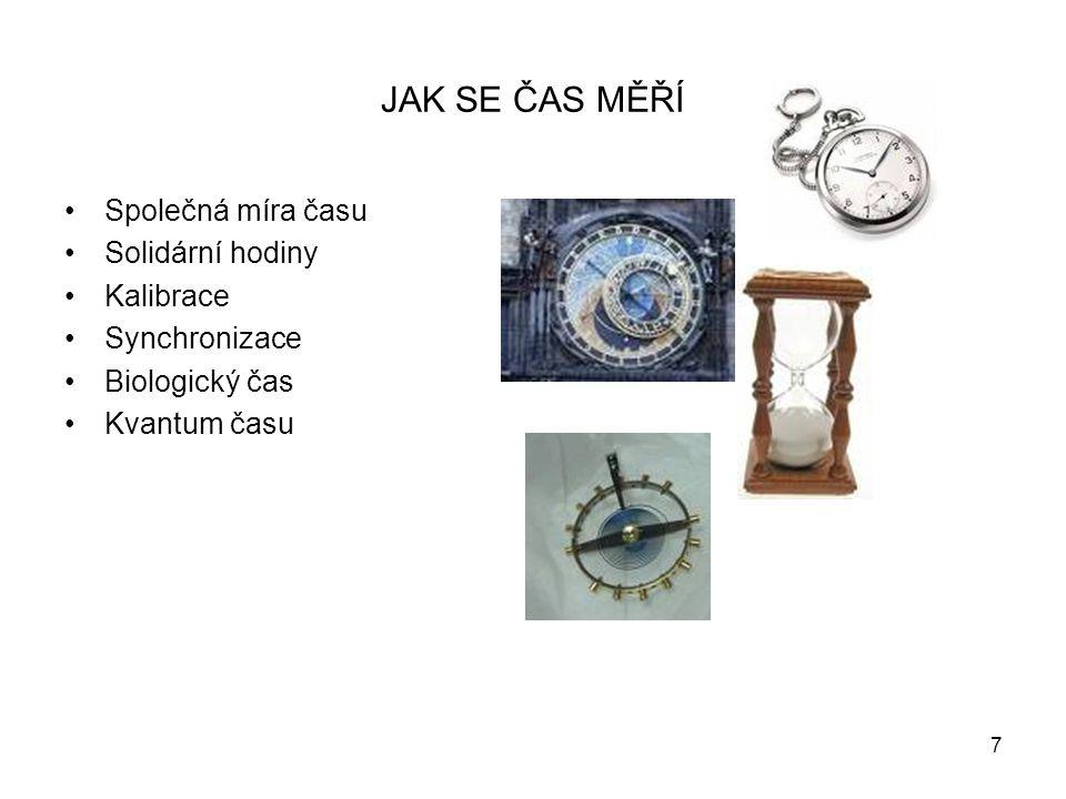 JAK SE ČAS MĚŘÍ Společná míra času Solidární hodiny Kalibrace