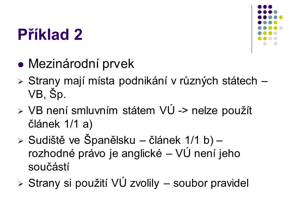 Příklad 2 Mezinárodní prvek