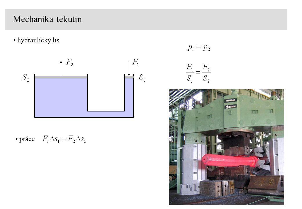 Mechanika tekutin hydraulický lis práce