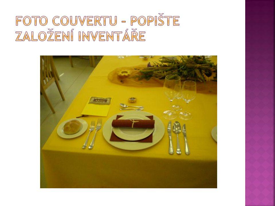 Foto couvertu – popište založení inventáře