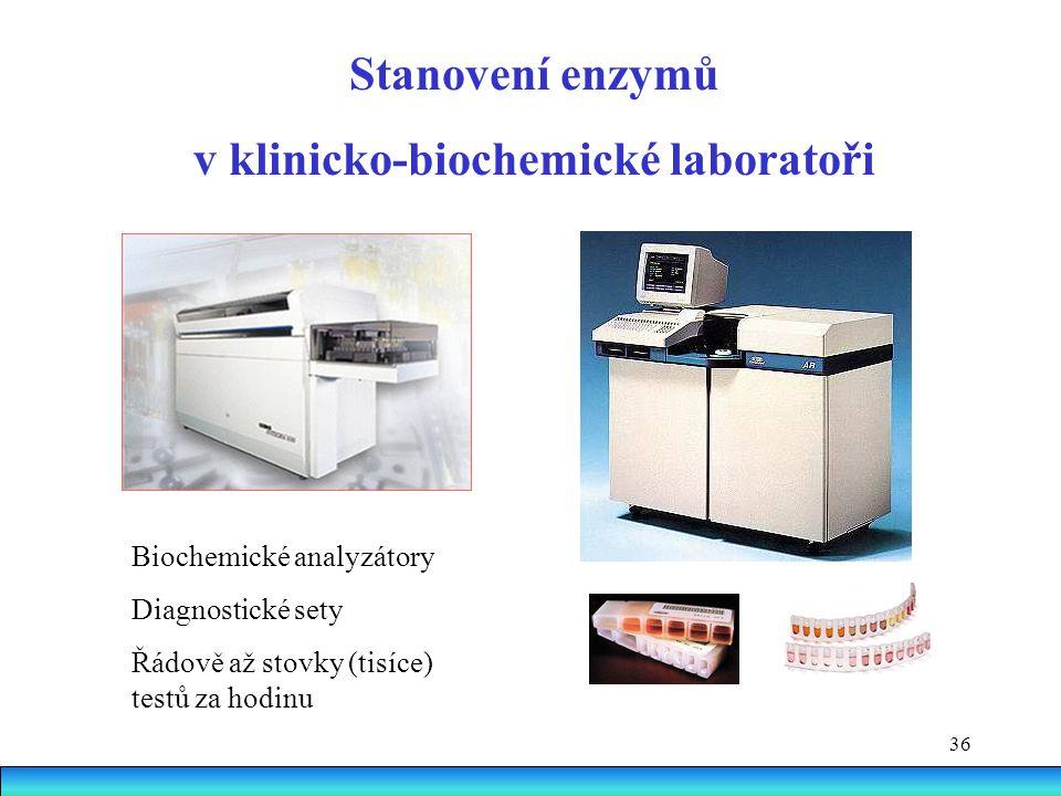 v klinicko-biochemické laboratoři