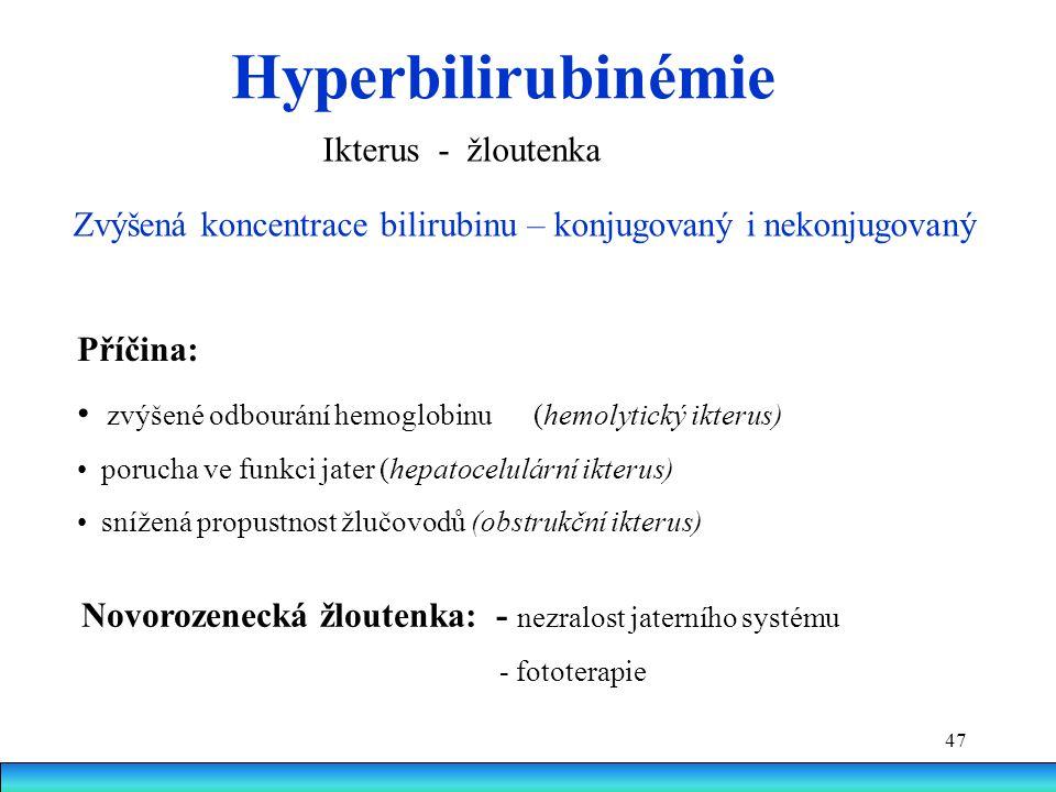 Hyperbilirubinémie Ikterus - žloutenka