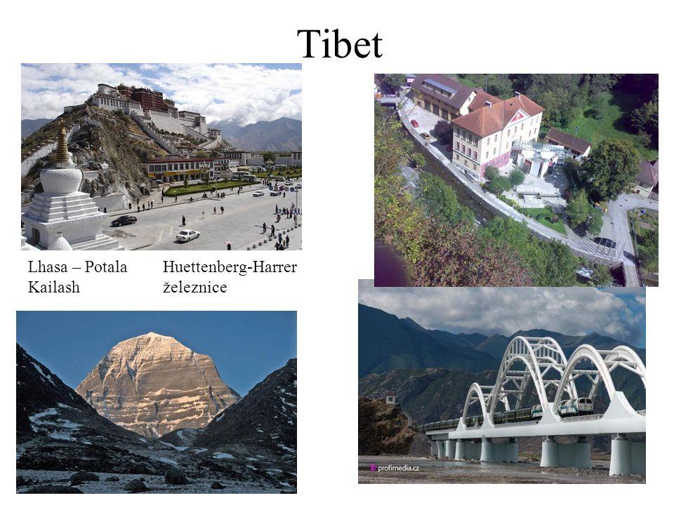 Tibet Lhasa – Potala Huettenberg-Harrer Kailash železnice