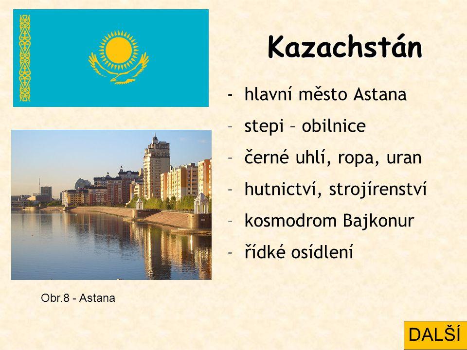 Kazachstán - hlavní město Astana stepi – obilnice