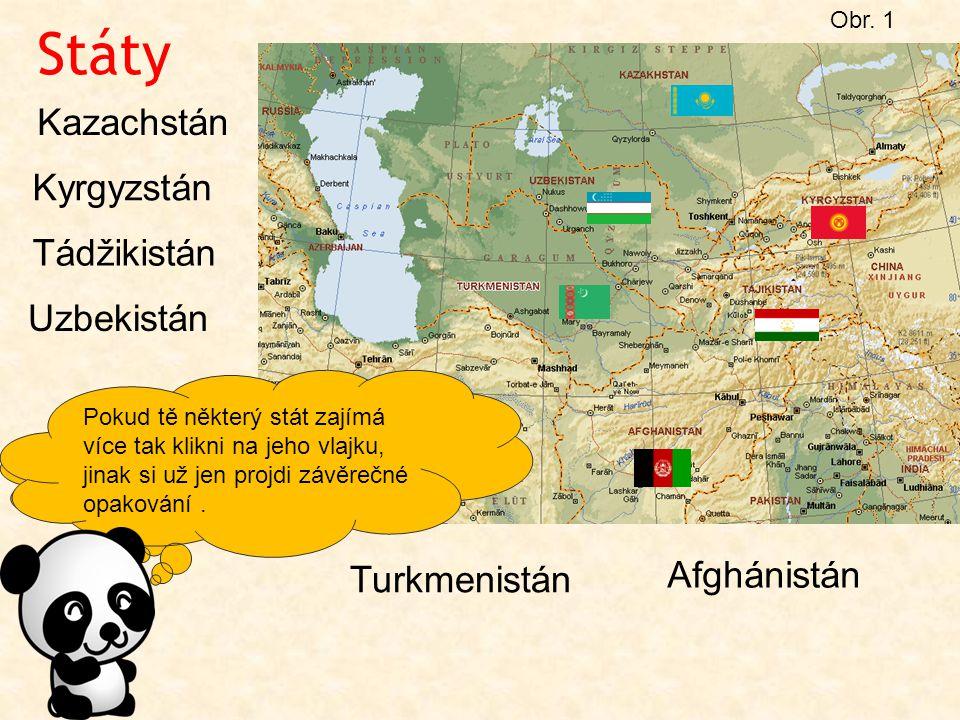 Státy Kazachstán Kyrgyzstán Tádžikistán Uzbekistán Afghánistán