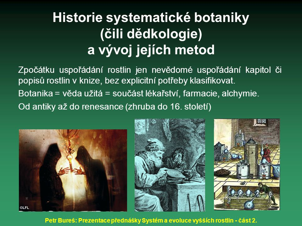 Historie systematické botaniky