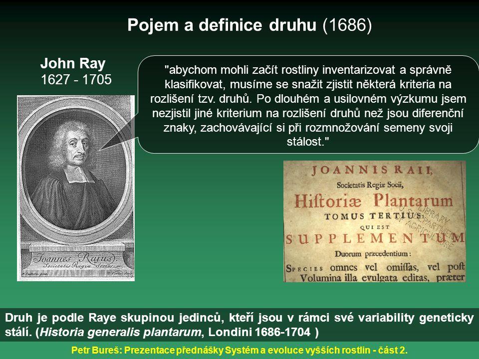 Pojem a definice druhu (1686)