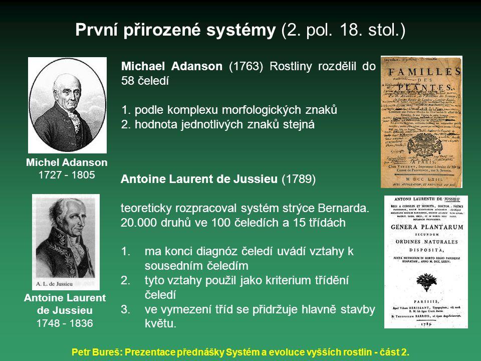 První přirozené systémy (2. pol. 18. stol.)