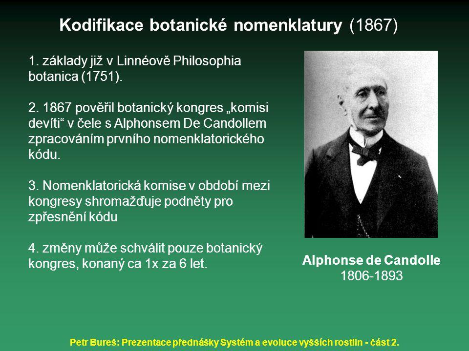 Kodifikace botanické nomenklatury (1867)