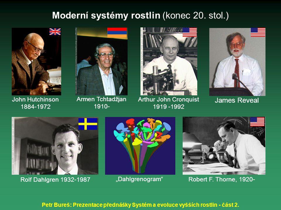 Moderní systémy rostlin (konec 20. stol.)