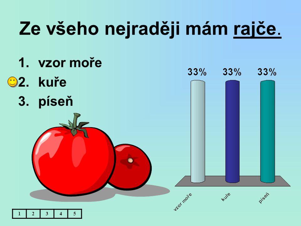 Ze všeho nejraději mám rajče.