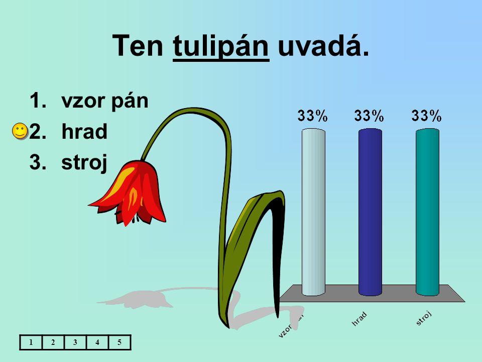 Ten tulipán uvadá. vzor pán hrad stroj 1 2 3 4 5