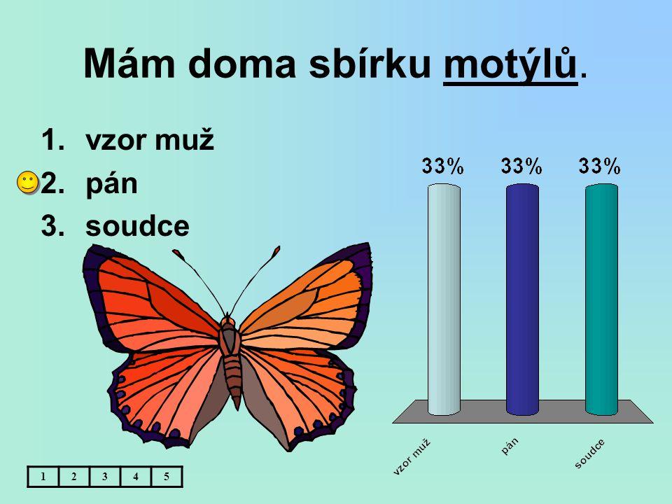 Mám doma sbírku motýlů. vzor muž pán soudce 1 2 3 4 5