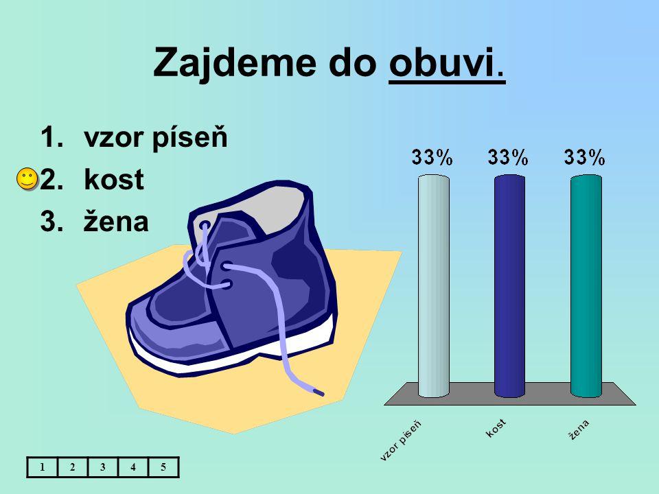 Zajdeme do obuvi. vzor píseň kost žena 1 2 3 4 5