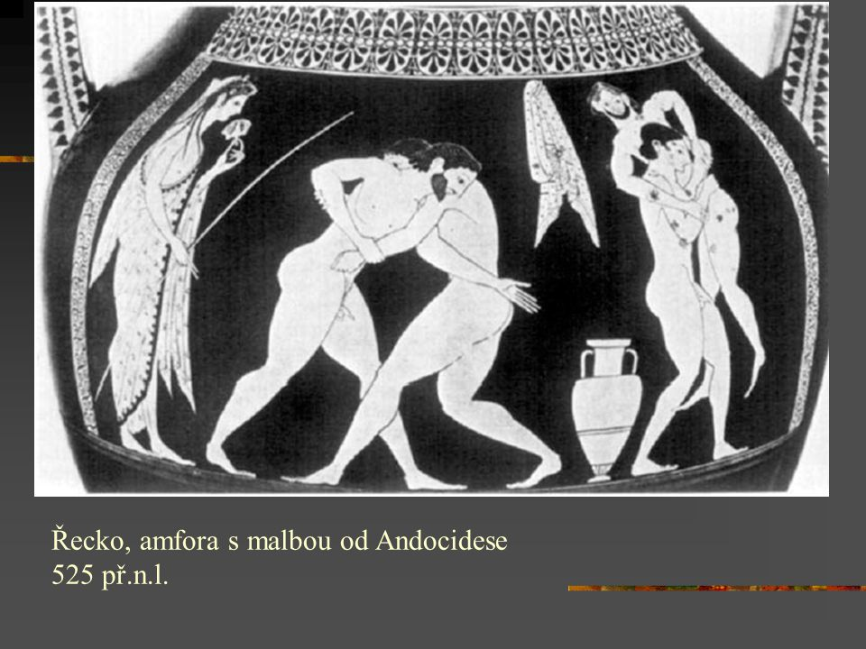 Řecko, amfora s malbou od Andocidese