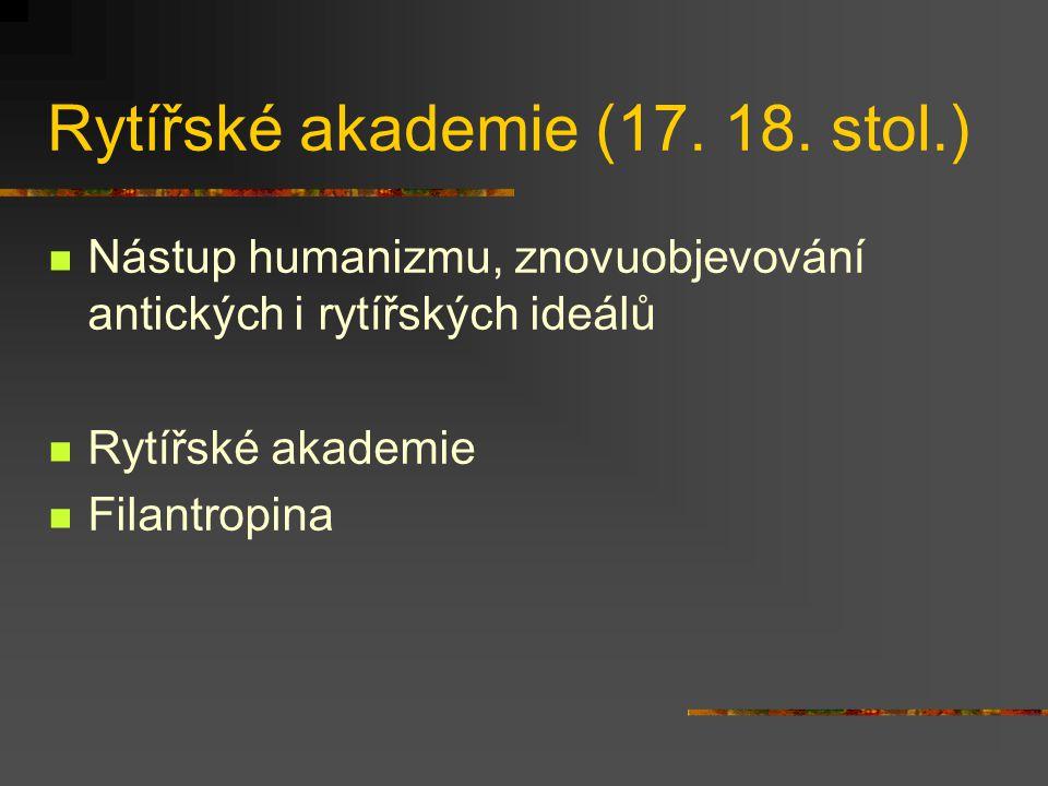 Rytířské akademie (17. 18. stol.)