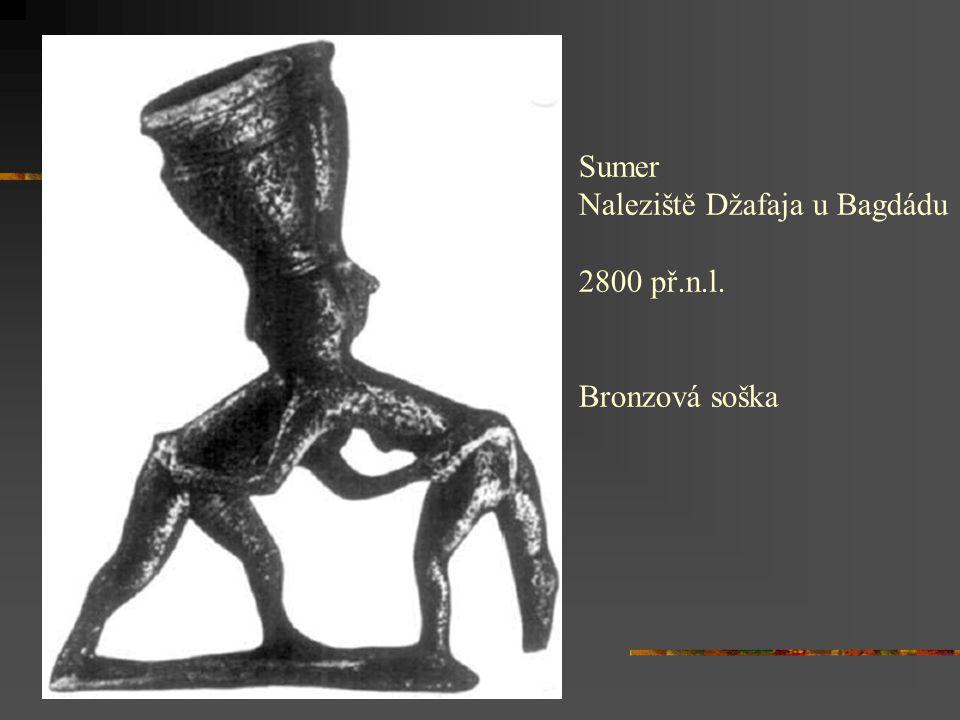 Sumer Naleziště Džafaja u Bagdádu 2800 př.n.l. Bronzová soška