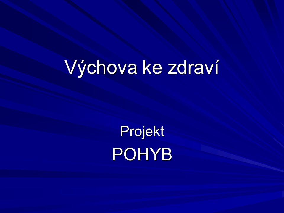 Výchova ke zdraví Projekt POHYB