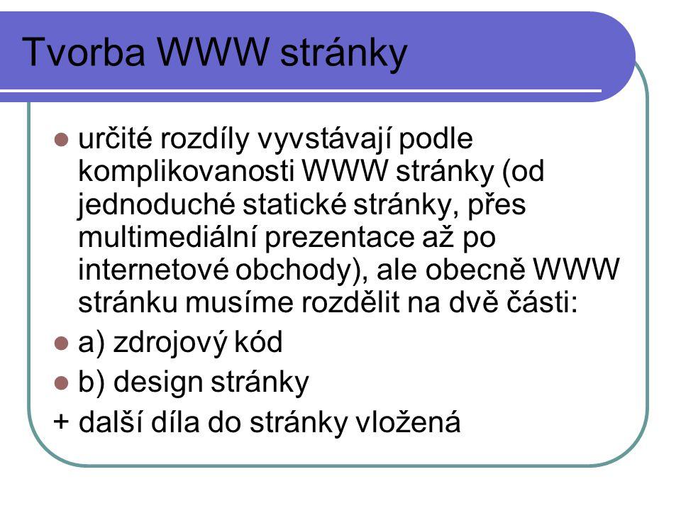 Tvorba WWW stránky