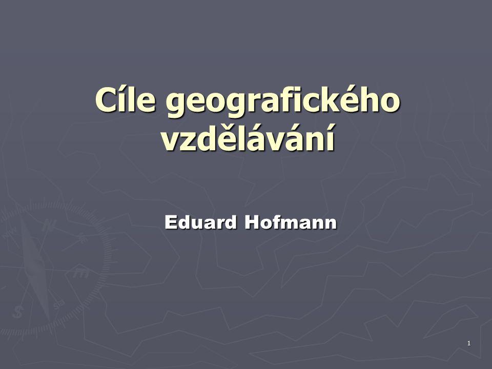 Cíle geografického vzdělávání