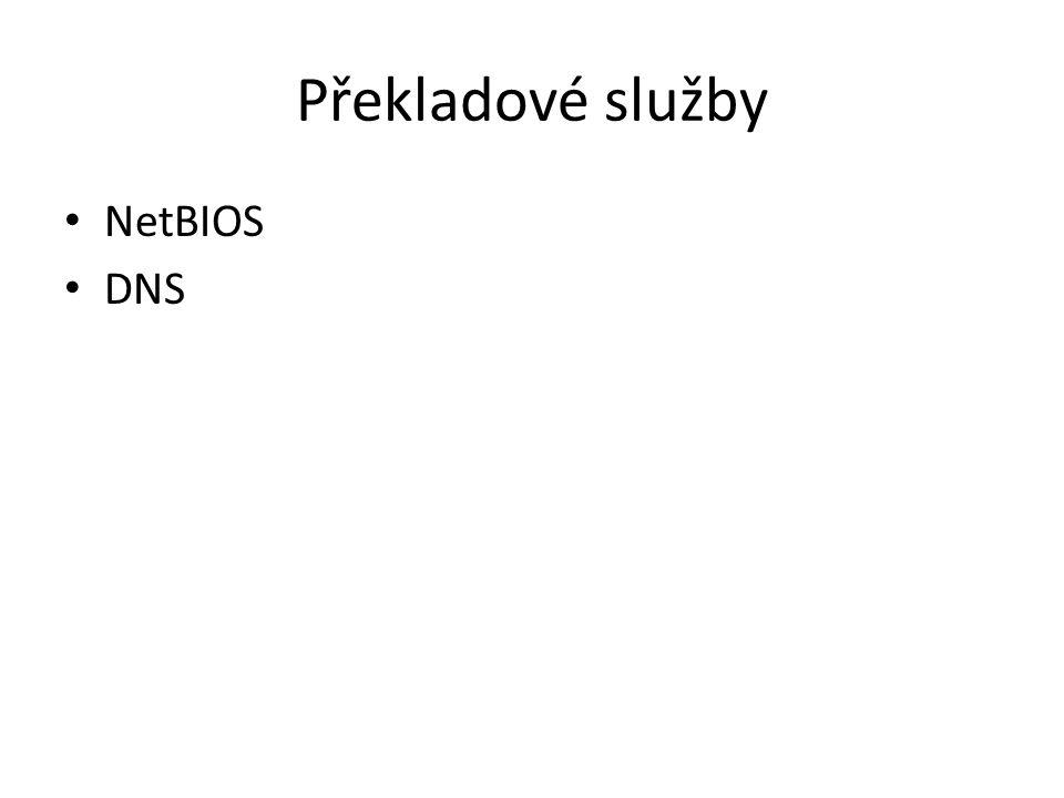 Překladové služby NetBIOS DNS