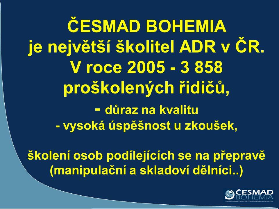 ČESMAD BOHEMIA je největší školitel ADR v ČR