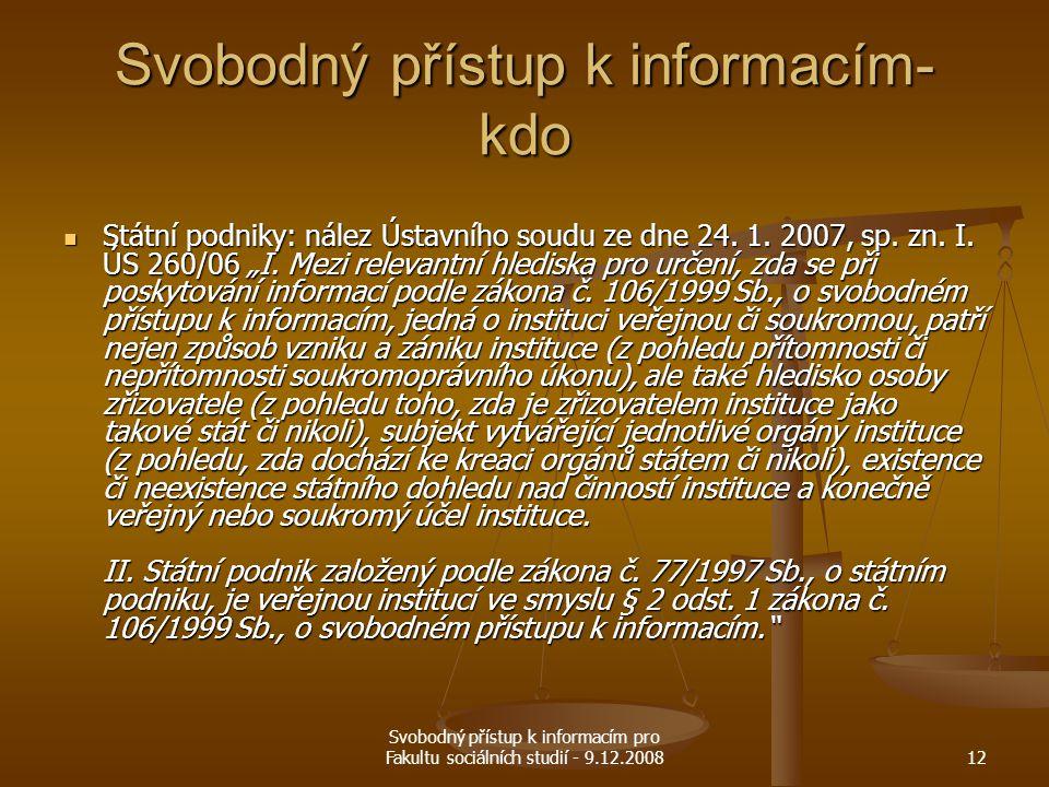 Svobodný přístup k informacím- kdo