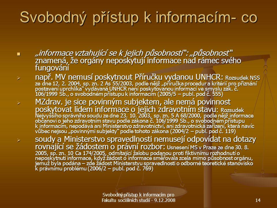 Svobodný přístup k informacím- co