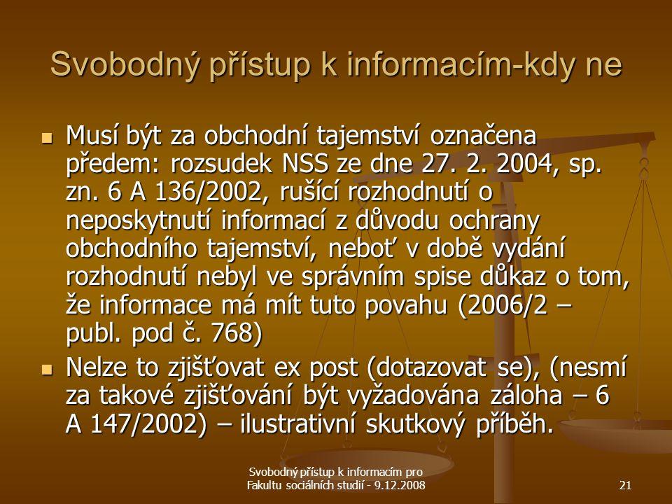 Svobodný přístup k informacím-kdy ne
