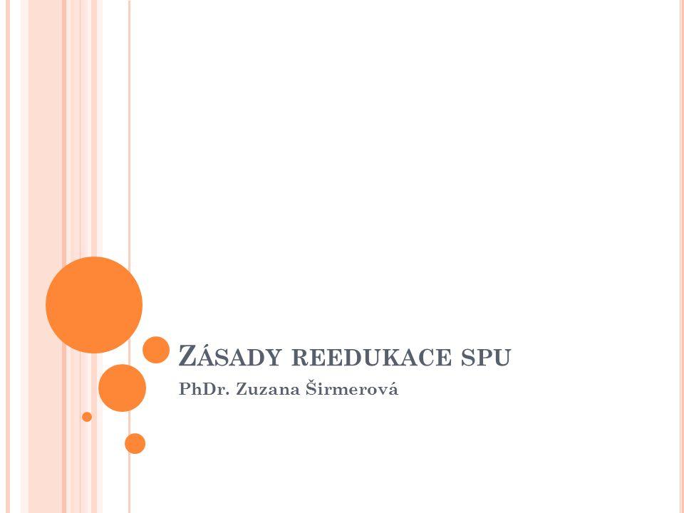 Zásady reedukace spu PhDr. Zuzana Širmerová