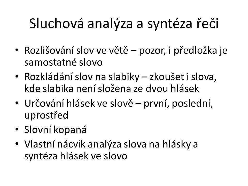 Sluchová analýza a syntéza řeči