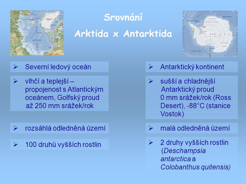 Srovnání Arktida x Antarktida