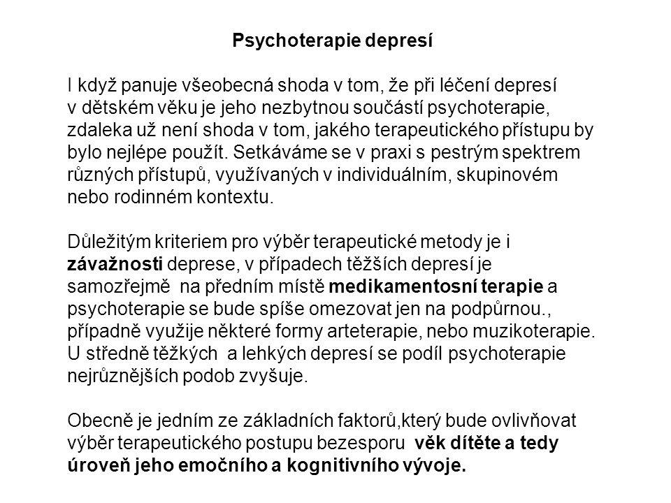 Psychoterapie depresí