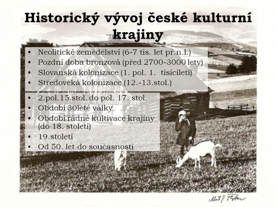 Historický vývoj české kulturní krajiny