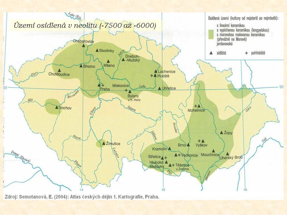 Území osídlená v neolitu (-7500 až -6000)