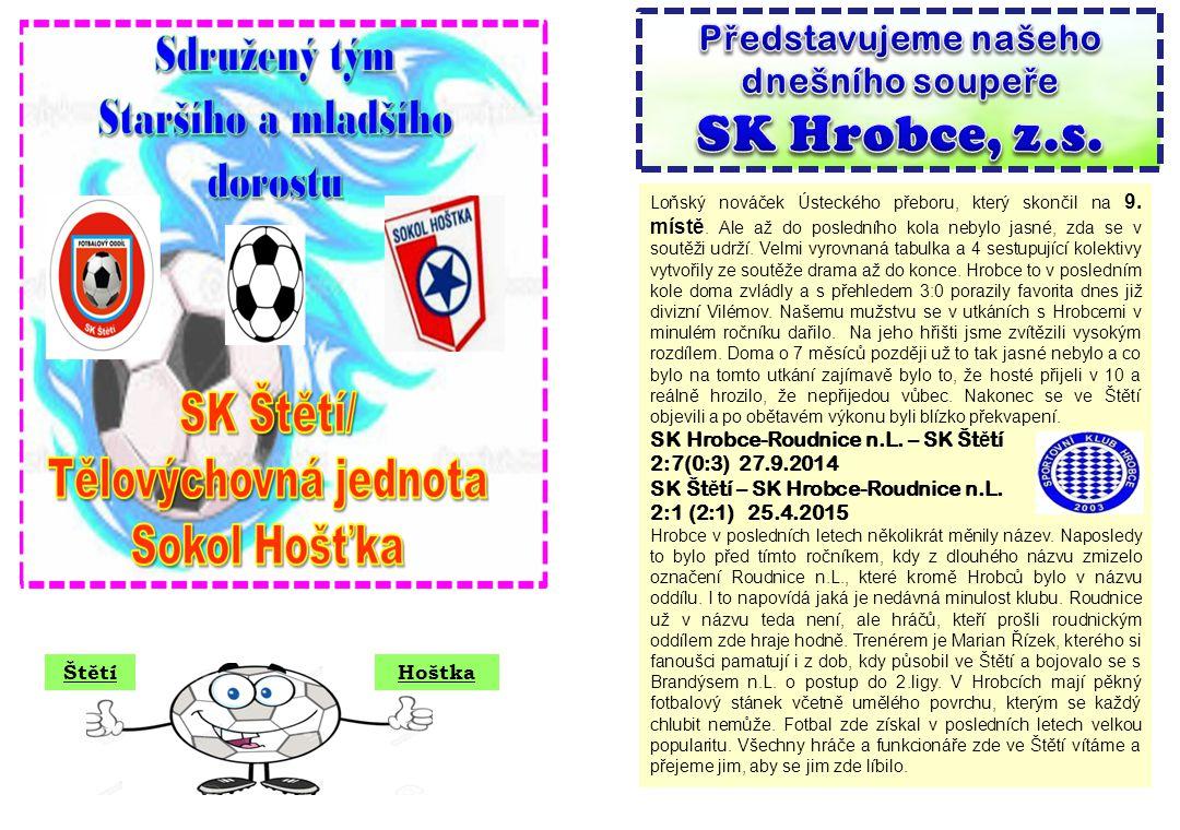 SK Hrobce, z.s. Představujeme našeho dnešního soupeře