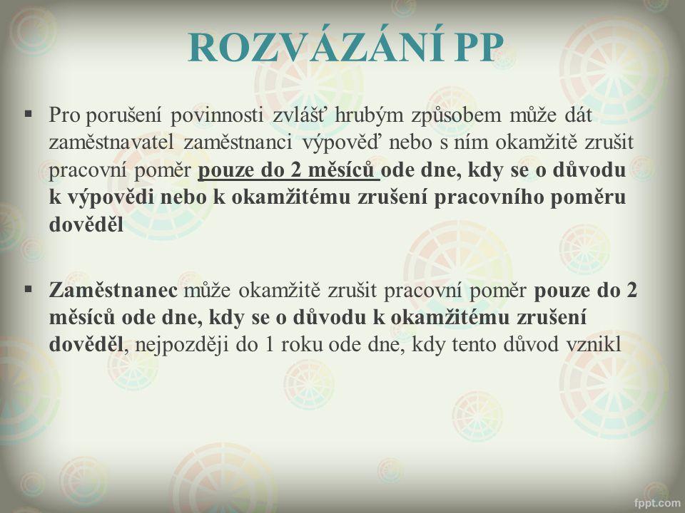 ROZVÁZÁNÍ PP