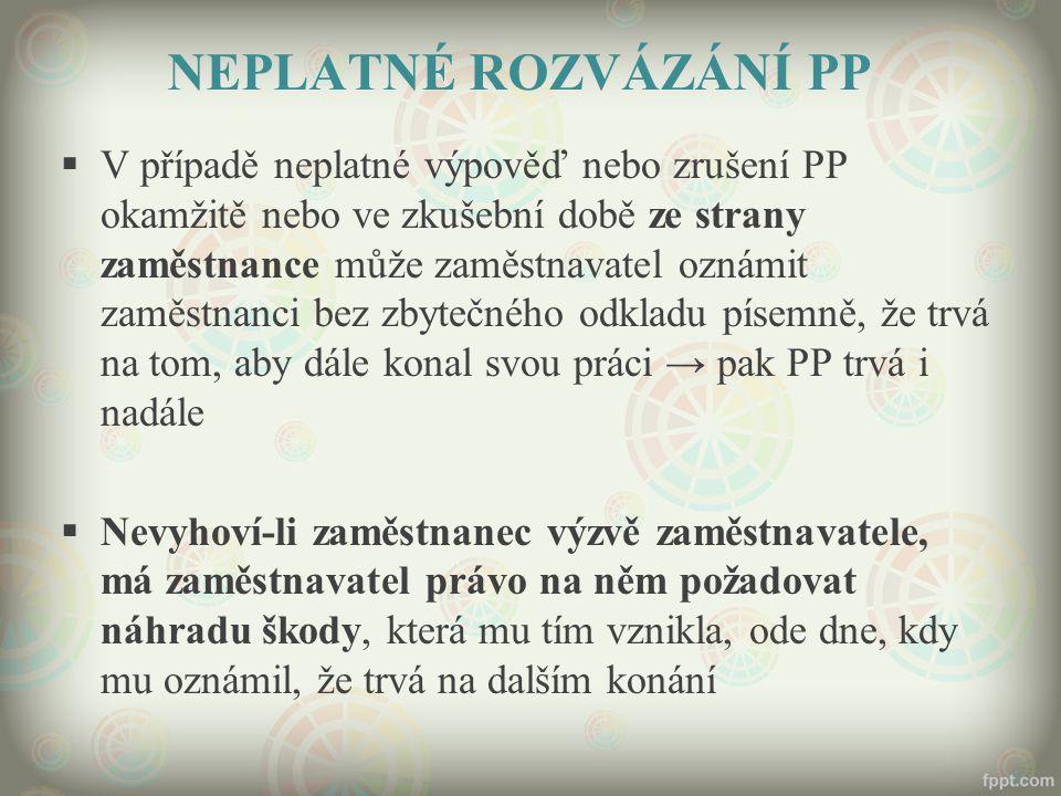 NEPLATNÉ ROZVÁZÁNÍ PP
