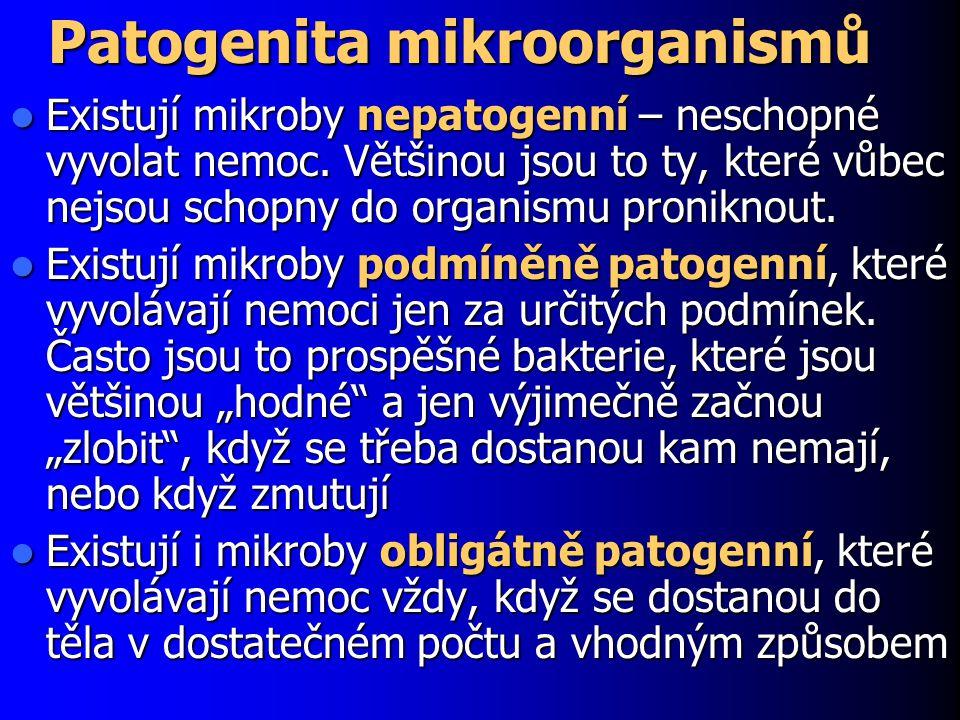 Patogenita mikroorganismů