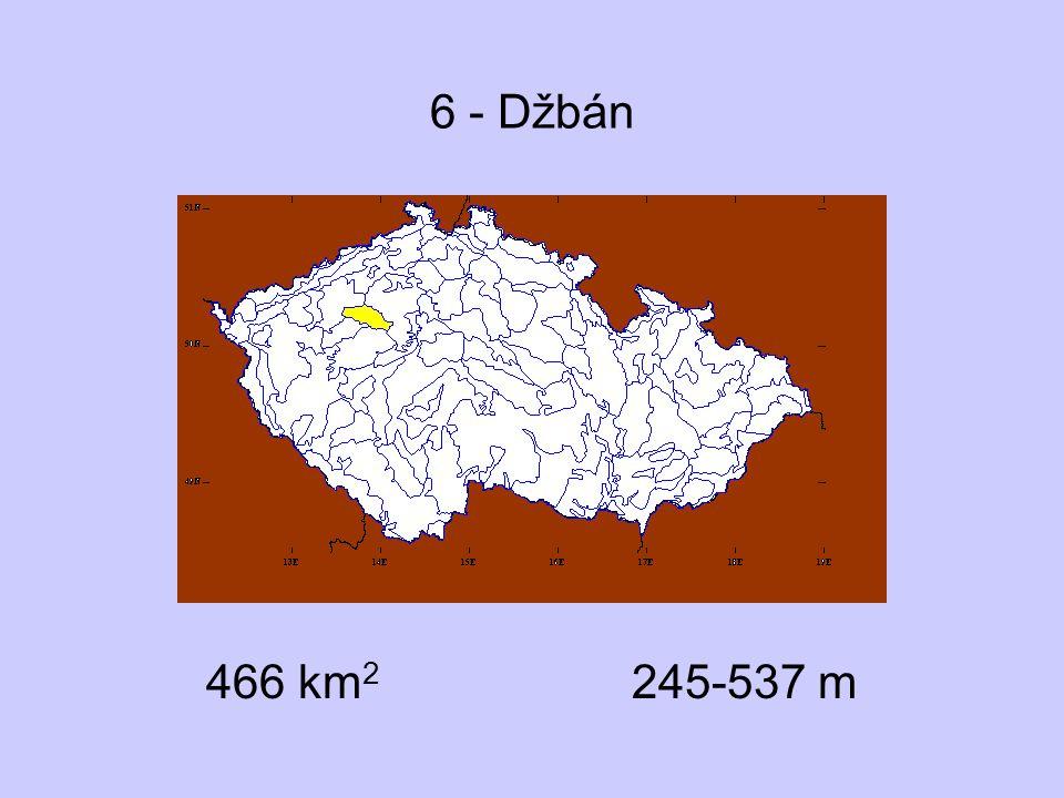 6 - Džbán 466 km2 245-537 m