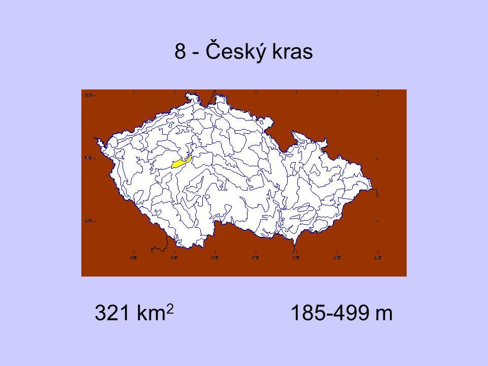 8 - Český kras 321 km2 185-499 m
