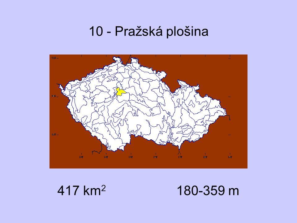 10 - Pražská plošina 417 km2 180-359 m
