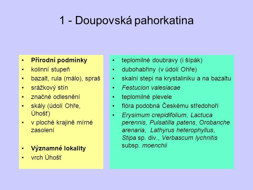 1 - Doupovská pahorkatina