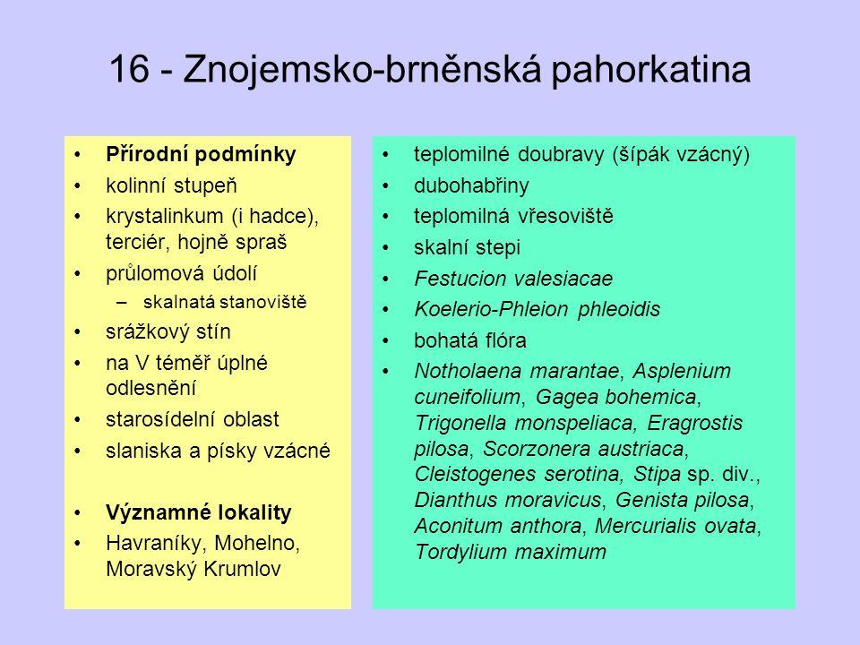 16 - Znojemsko-brněnská pahorkatina