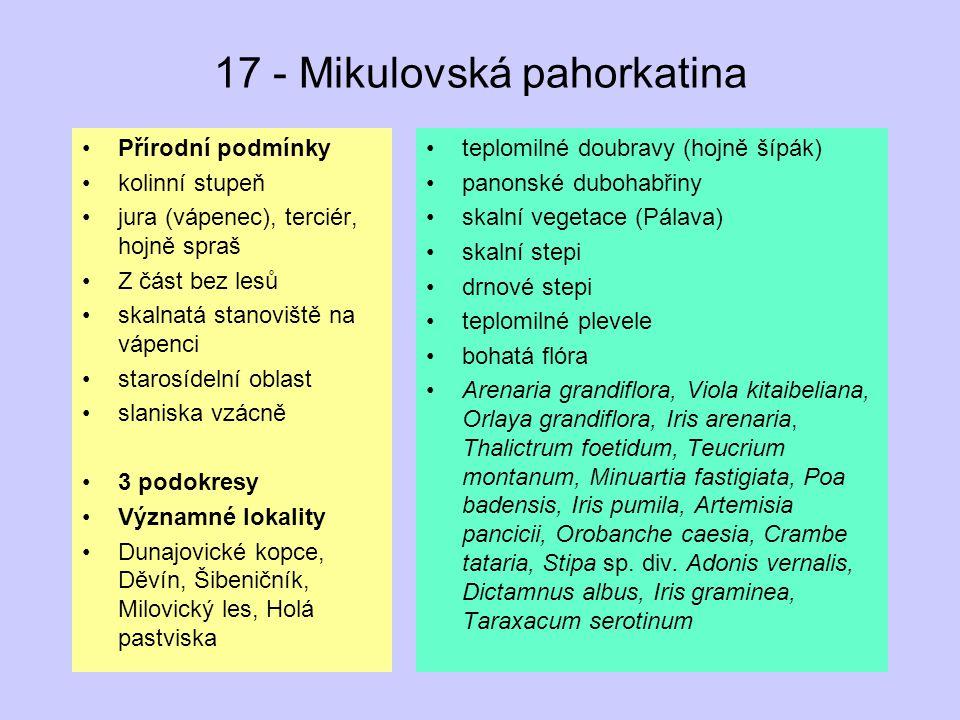 17 - Mikulovská pahorkatina