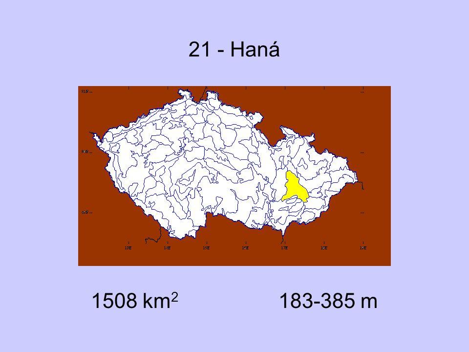 21 - Haná 1508 km2 183-385 m